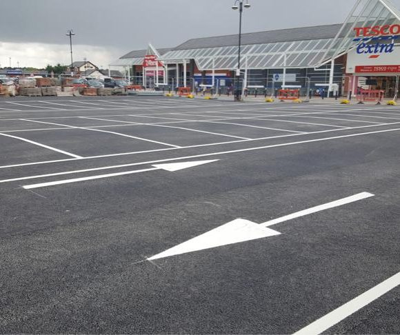 Line Marking in Aberbargoed
